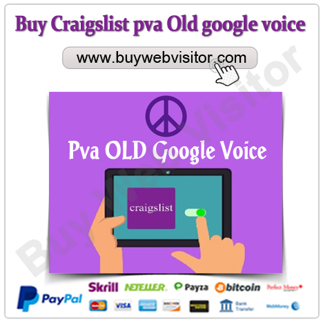 Buy Craigslist pva Old google voice